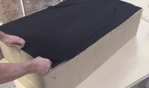 diy bass trap fabric cover