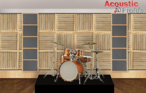 Variable acoustics drum platform