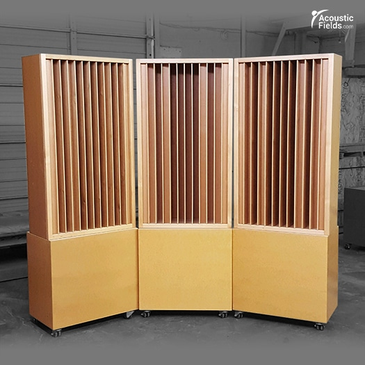 Quadratic Sound Diffusers by Acoustic Fields